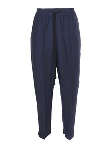 Forte Forte - Cotton cropped pants in blue