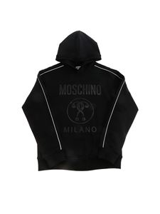 Moschino Kids - Felpa Double Question nera