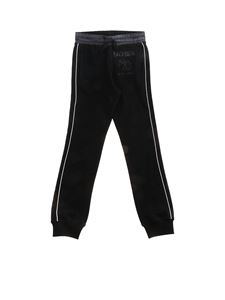 Moschino Kids - Pantalone logo Double Question nero