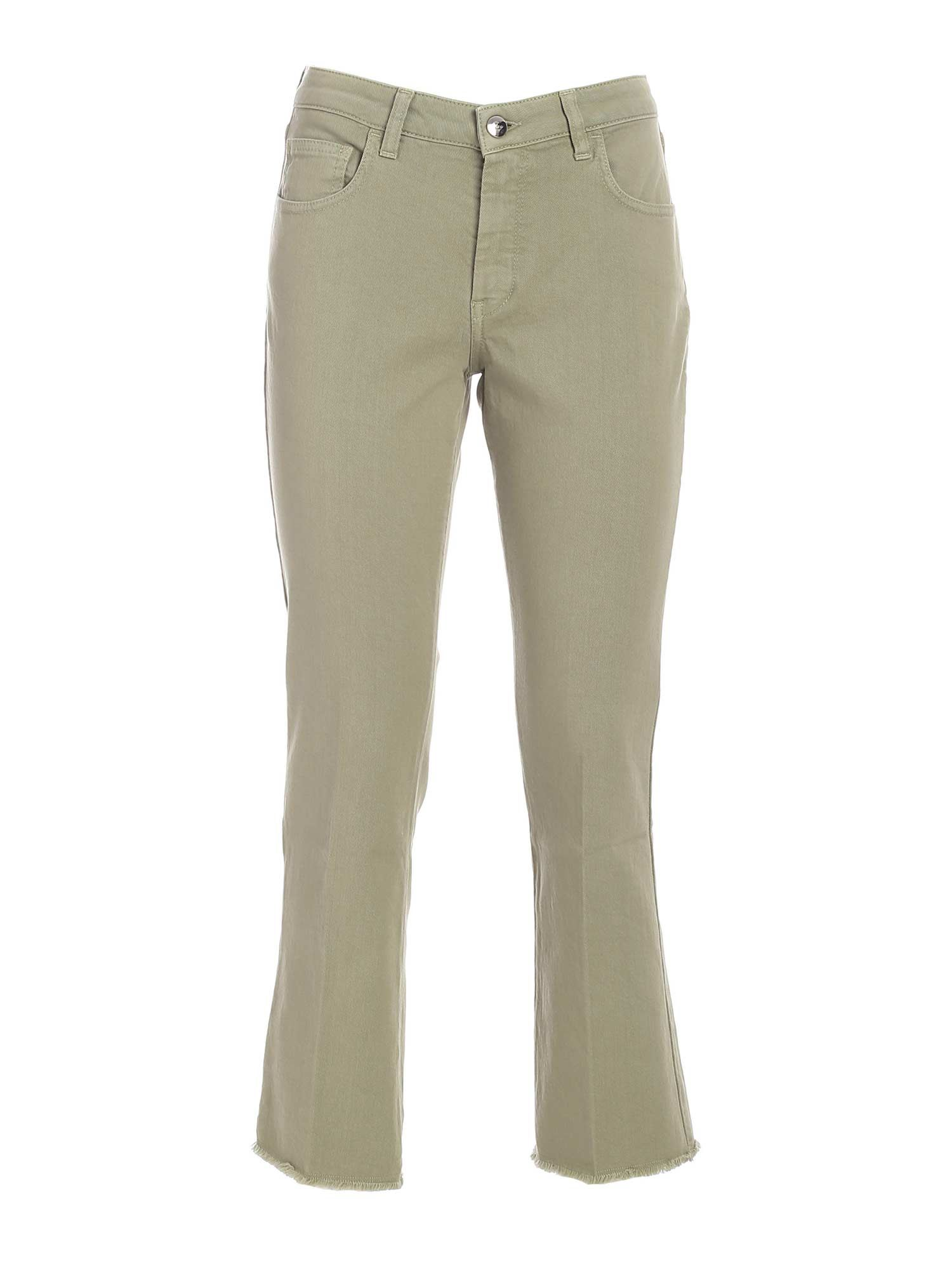 Fay BOOTCUT BRANDED PANTS IN GREEN