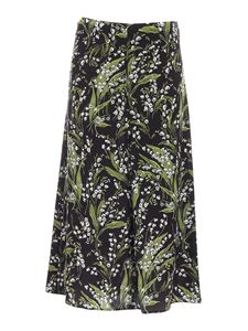 Red Valentino - Floral printed skirt in black