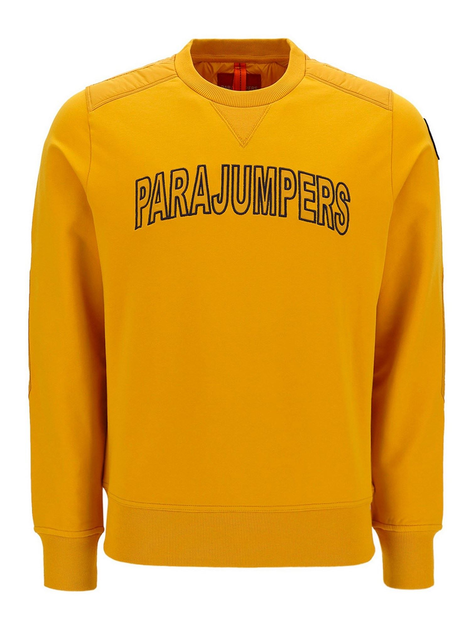 Parajumpers Cottons LOGO EMBROIDERY SWEATSHIRT IN YELLOW