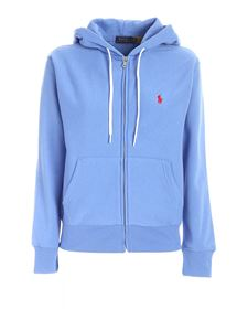 POLO Ralph Lauren - Logo embroidery sweatshirt in light blue