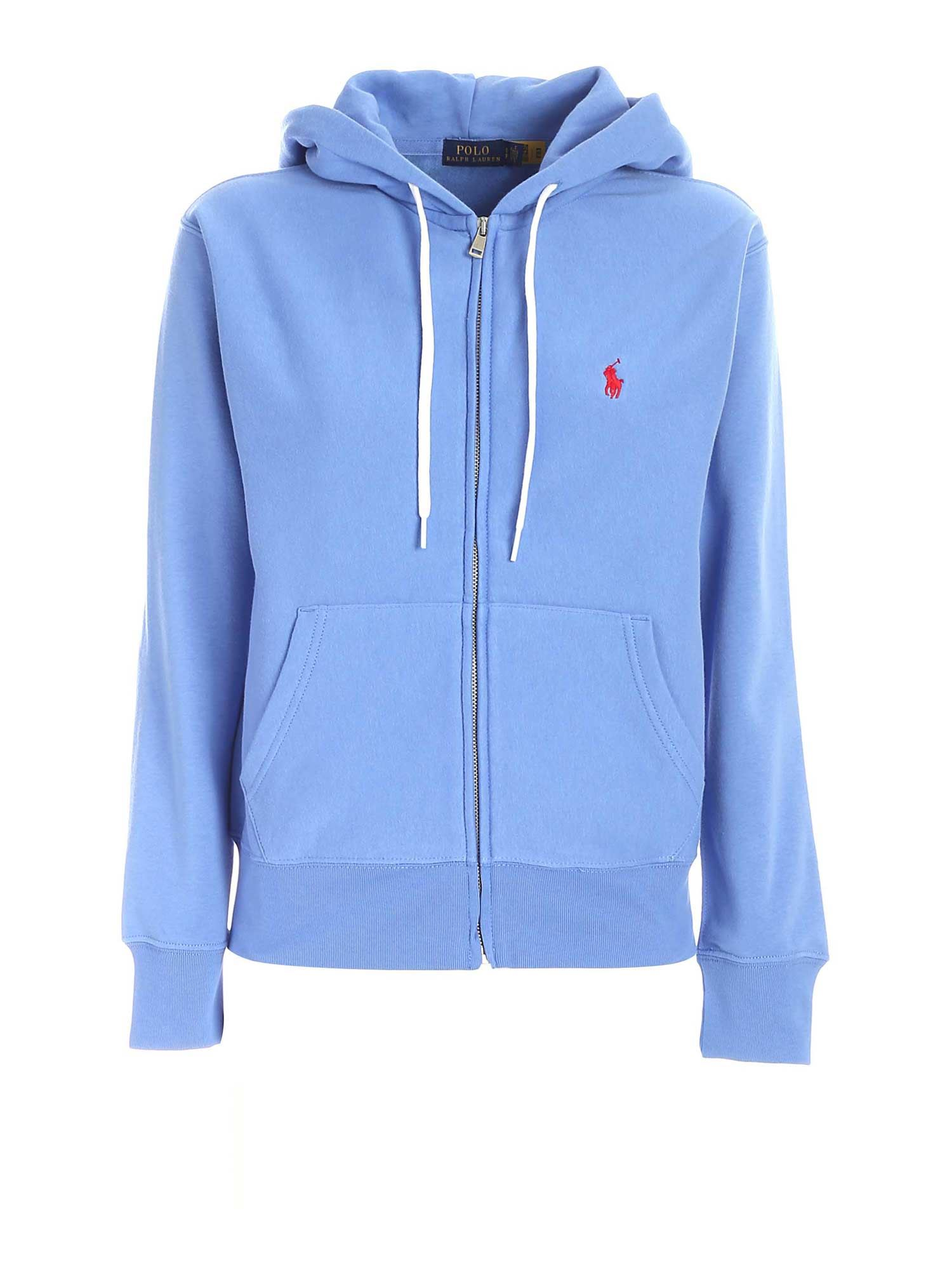 Polo Ralph Lauren POLO RALPH LAUREN LOGO EMBROIDERY SWEATSHIRT IN LIGHT BLUE