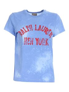 POLO Ralph Lauren - Vintage effect T-shirt in light blue