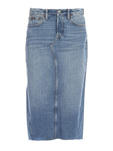 POLO Ralph Lauren - Faded denim skirt in blue