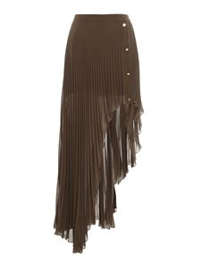 Patrizia Pepe - Pleated long skirt in green