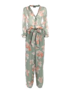 Emporio Armani - Contrasting pattern jumpsuit in green