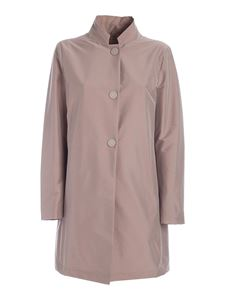 Herno - Single-breasted coat in antique pink