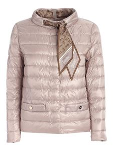 Herno - Scarf padded jacket in pink