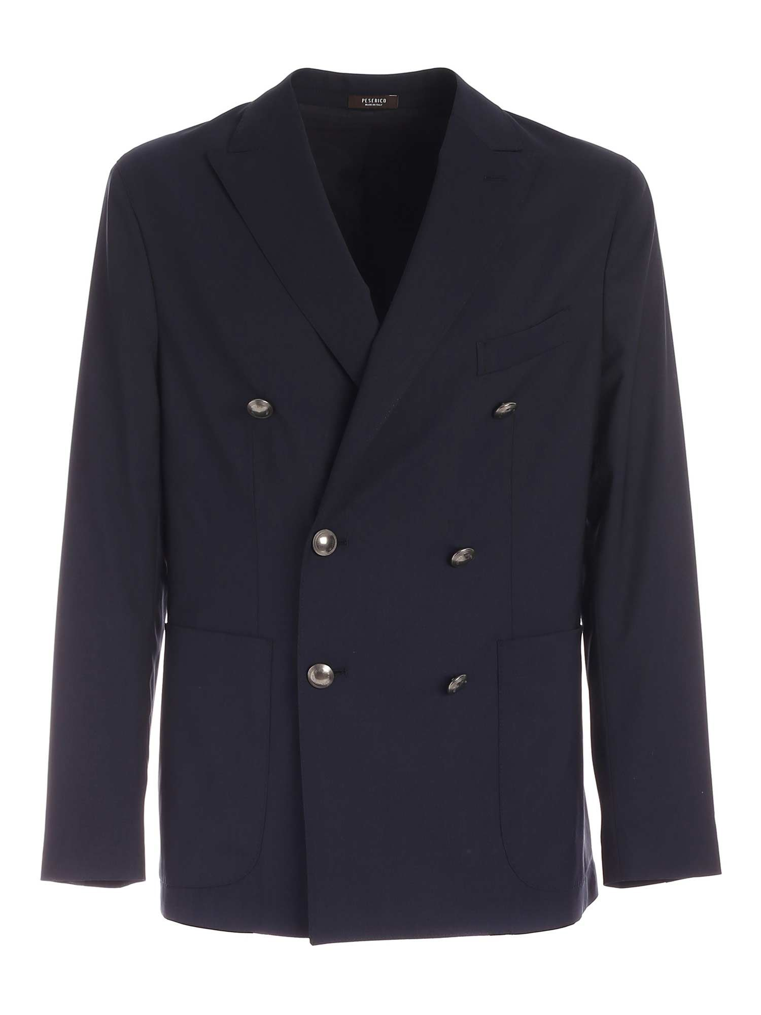 Peserico DOUBLE-BREASTED VIRGIN WOOL JACKET