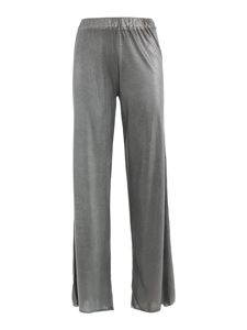 Avant Toi - Laminated palazzo trousers in grey