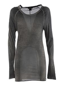 Avant Toi - Cotton long sleeved T-shirt in grey