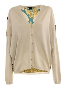 Avant Toi - Cashmere silk cardigan with headscarf detail in beige