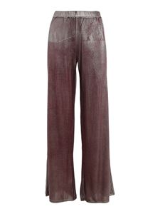 Avant Toi - Laminated palazzo trousers in red