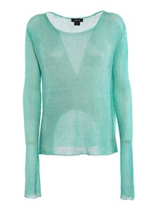 Avant Toi - Drilled linen jumper in green