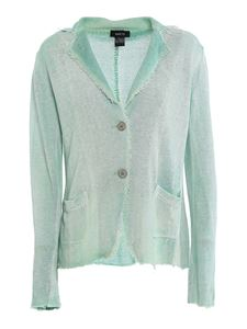 Avant Toi - Distressed effect linen jacket in green
