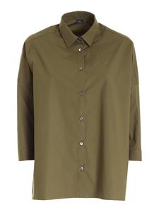 Fay - Oversize shirt in green