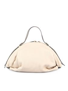 Borbonese - Bubble large bag in cream color