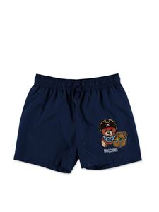 Moschino Kids - Pirate Teddy Bear swim boxer in blue