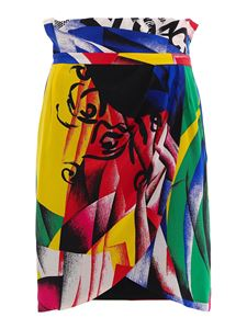 Versace - Patterned silk skirt in multicolor