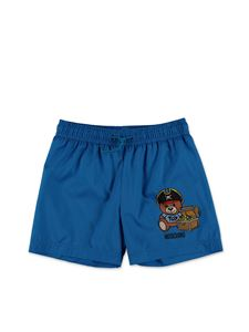 Moschino Kids - Pirate Teddy Bear swim boxer in light blue