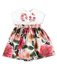 Dolce & Gabbana Jr - Multicolor floral dress with coulottes