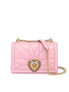 Dolce & Gabbana - Devotion small bag in pink