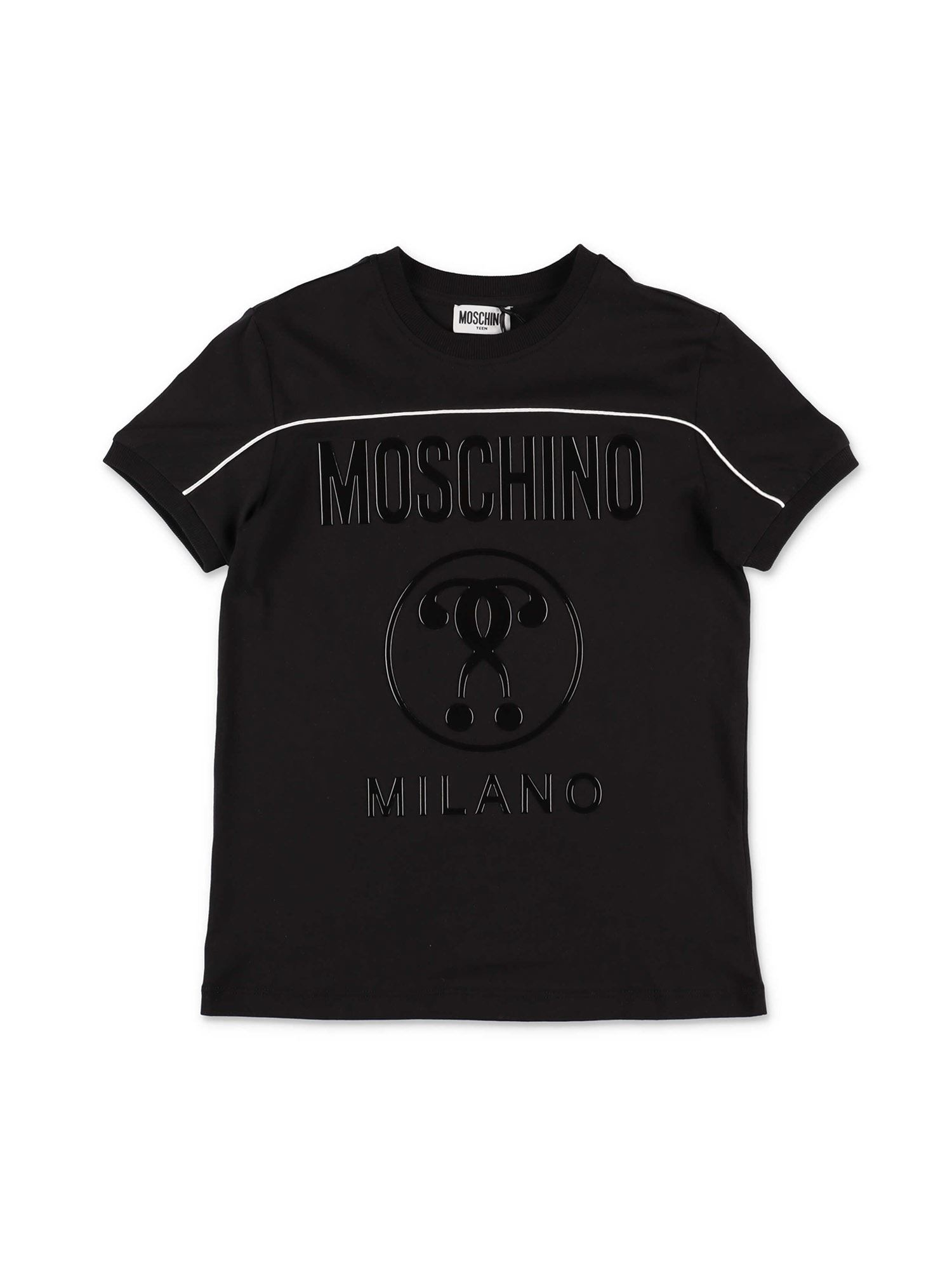 Moschino DOUBLE QUESTION MARK T-SHIRT IN BLACK