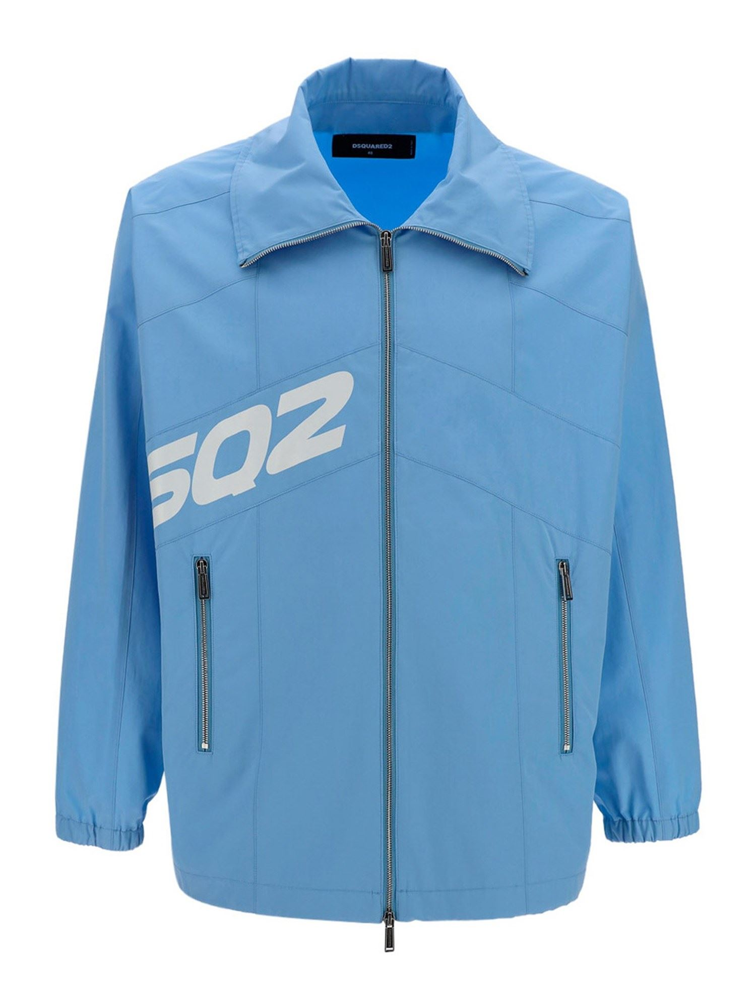 Dsquared2 Cottons LOGO COTTON JACKET IN LIGHT BLUE