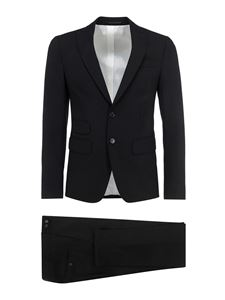 Dsquared2 - Fleece wool two-piece suit in black