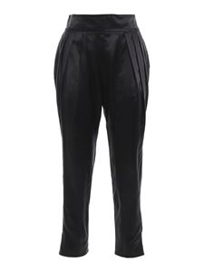 Givenchy - Silk cigarette trousers in black