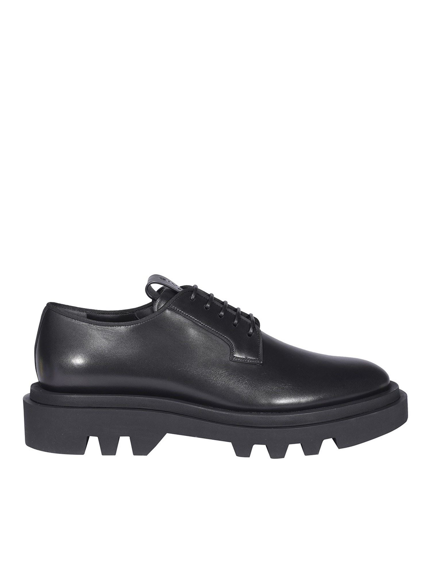 Givenchy BRUSHED LEATHER LACE-UPS IN BLACK