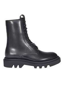Givenchy - Brushed leather boots in black