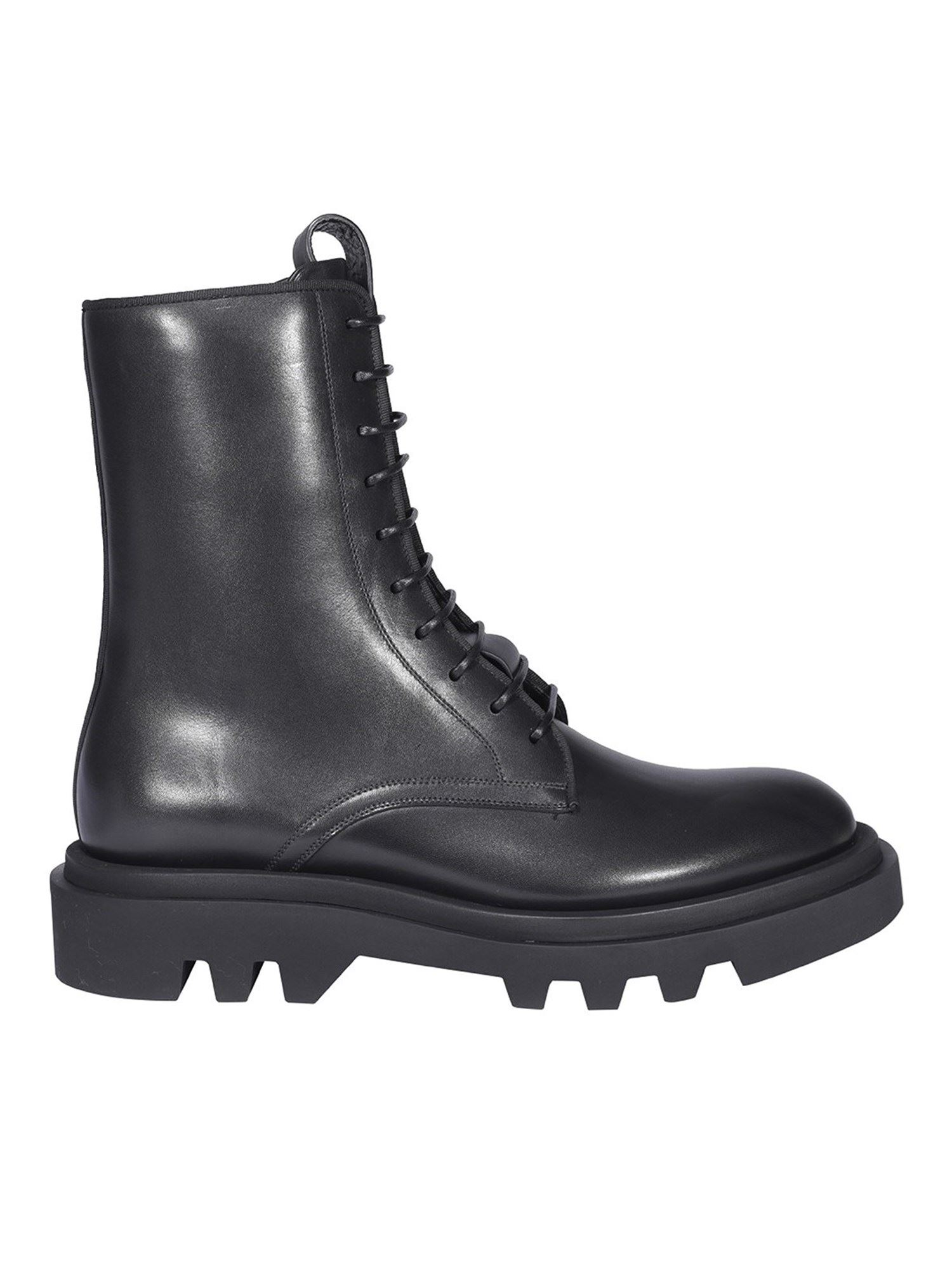 Givenchy BRUSHED LEATHER BOOTS IN BLACK