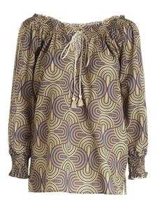 True Royal - Printed blouse in green
