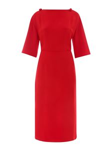 Valentino - Bow viscose blend dress in red