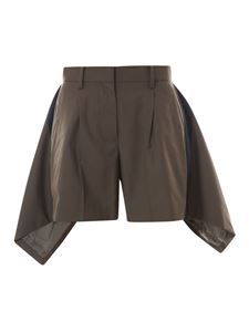 Sacai - Shorts with side applications in green