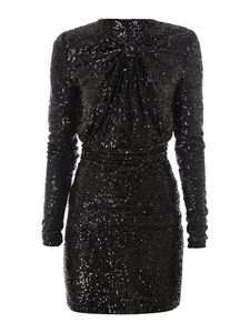 Saint Laurent - Sequined mini dress in black