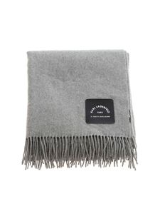 Karl Lagerfeld - Logo label over fit scarf in grey