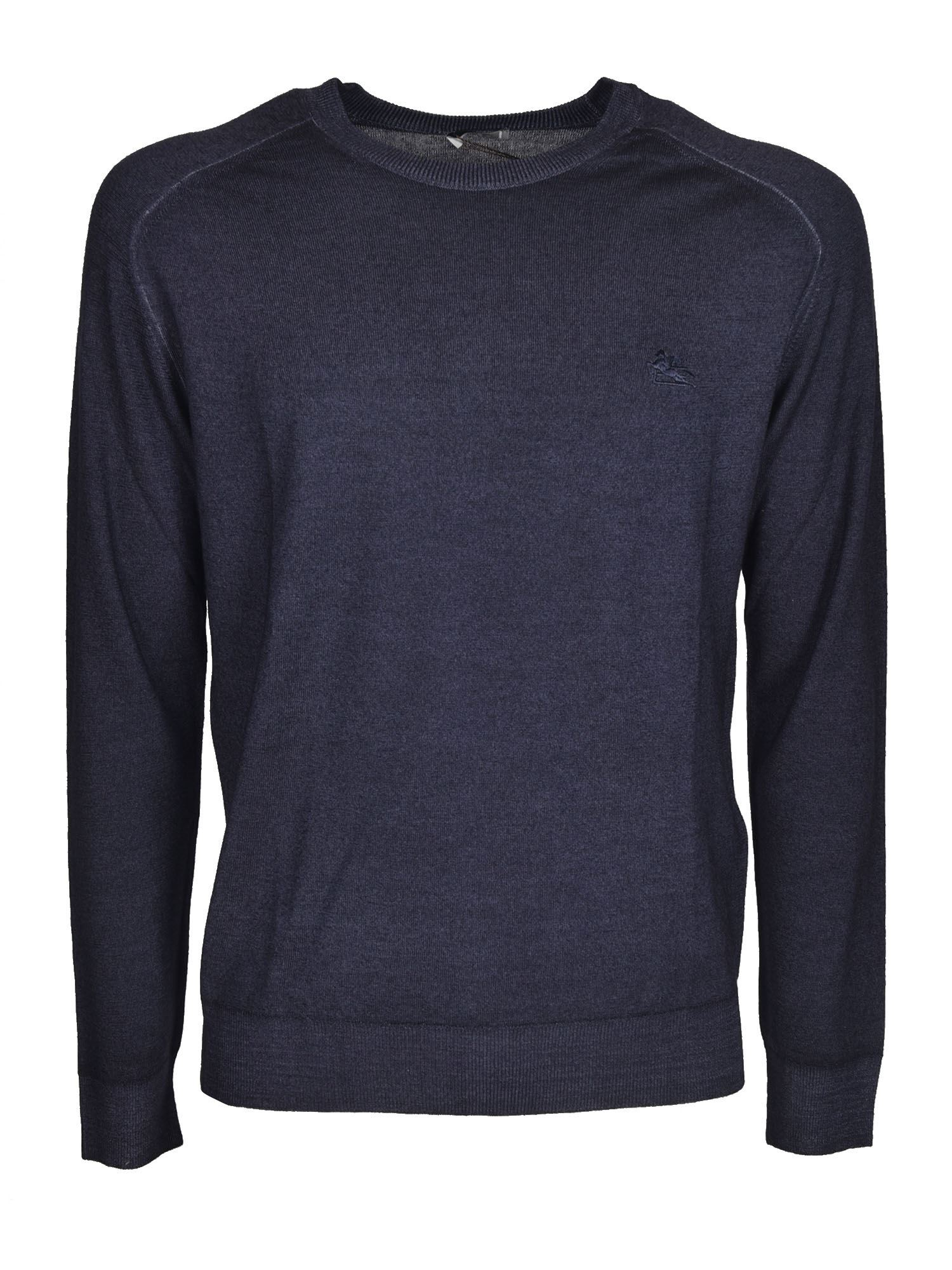 Etro LOGO SWEATER IN BLUE