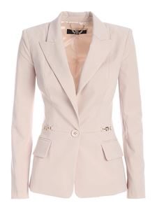 Elisabetta Franchi - Single-breasted jacket in powder pink