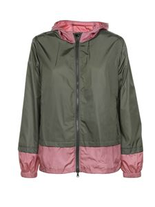 Fay - Windbreaker jacket in green and pink