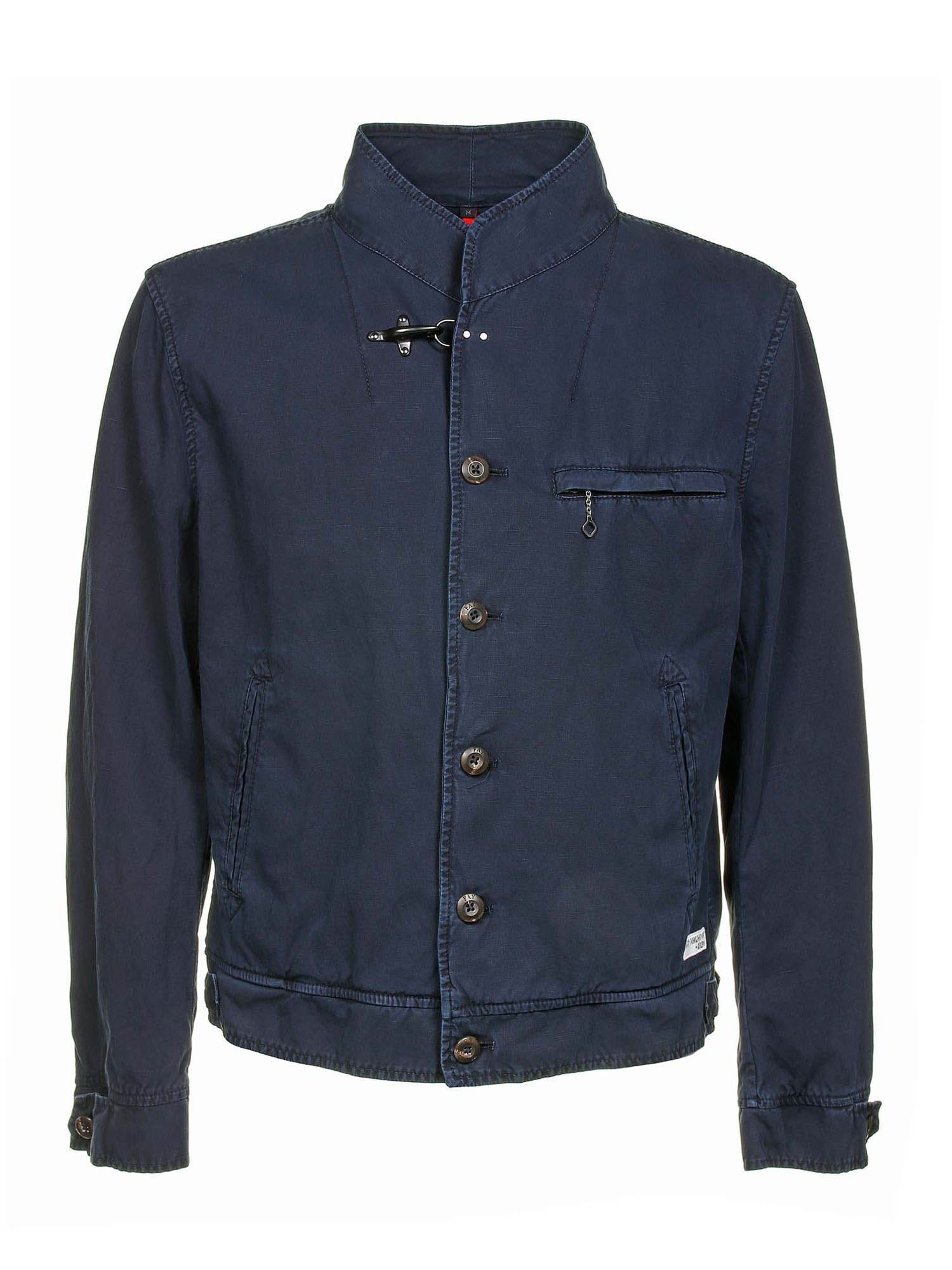 Fay Cottons ARCHIVE WORK JACKET IN BLUE