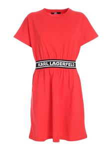 Karl Lagerfeld - Branded band dress in red