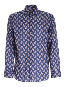 Etro - Printed shirt in blue