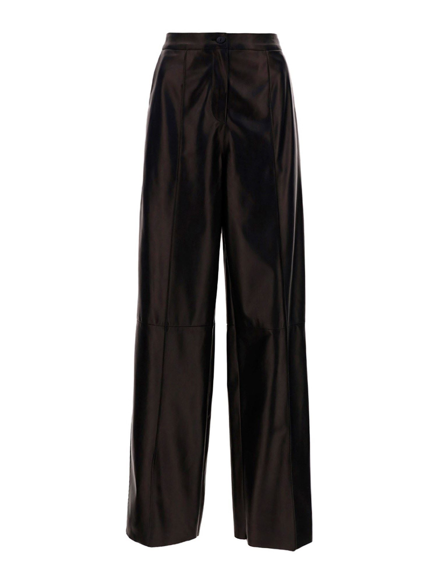 Drome Leathers NAPA PALAZZO TROUSERS IN BROWN