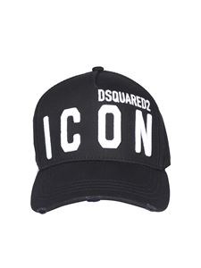 Dsquared2 - Icon embroidery baseball cap in black