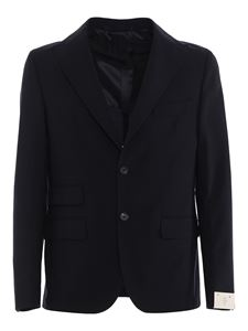 Eleventy - Stretch brushed wool suit in blue
