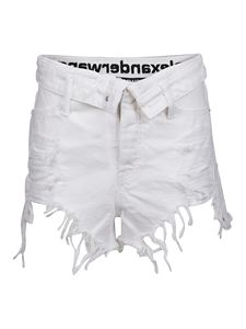 Alexander Wang - Fringed shorts in white